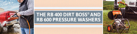 RB 400 Dirt Boss<sup>®</sup> & RB 600 Pressure Washers