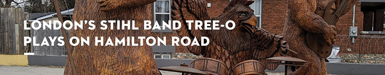 London's STIHL Band Tree-O Plays on Hamilton Road