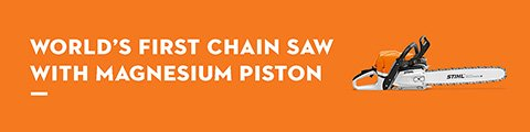 World's First Chain Saw with Magnesium Piston